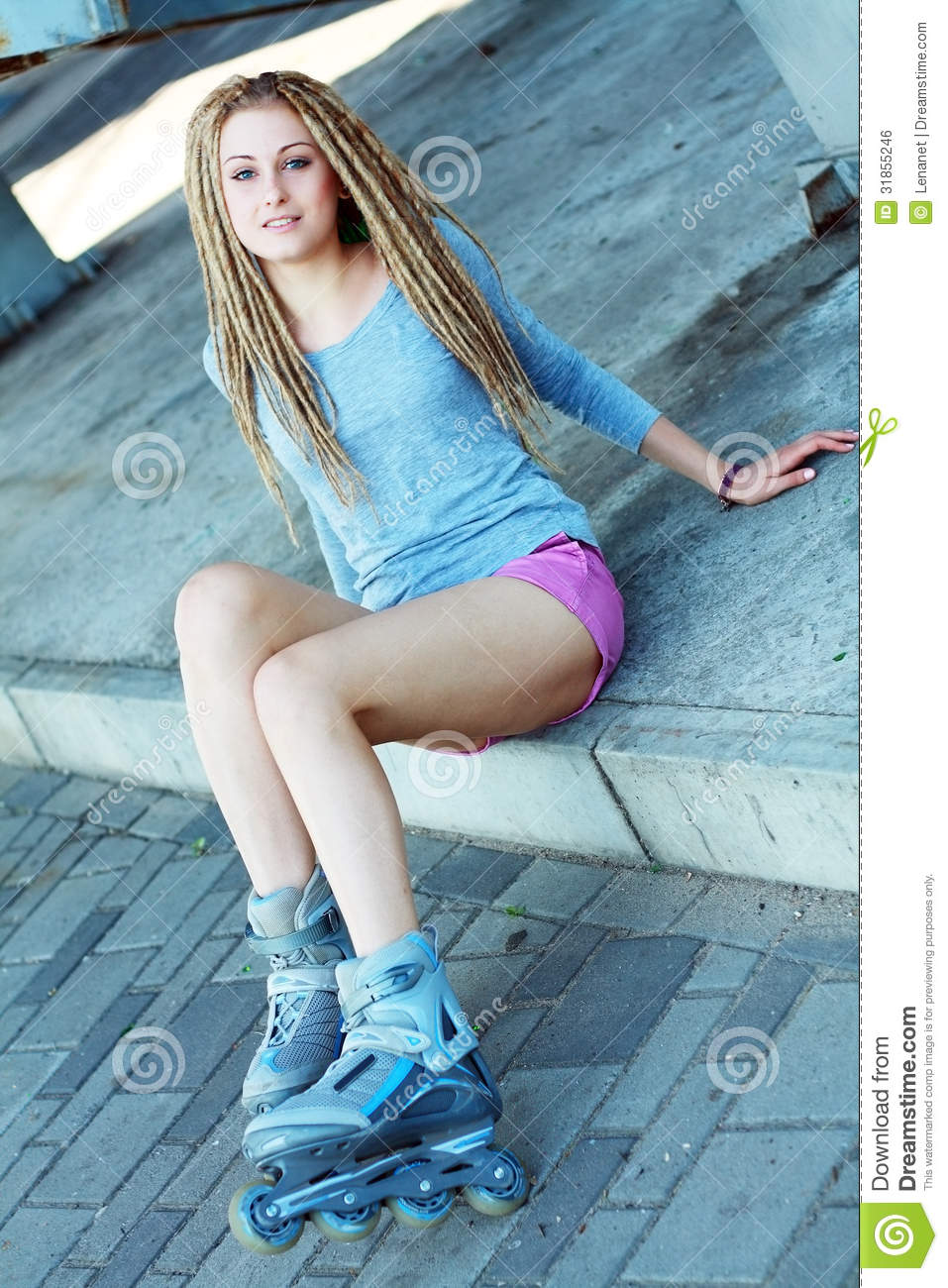 Beautiful Girl With Dreadlocks Royalty Free Stock Image