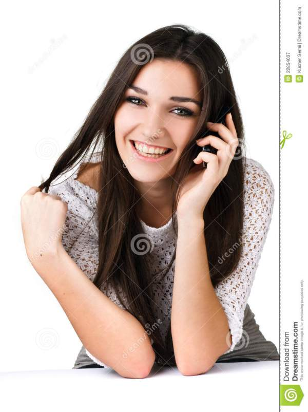 Beautiful Girl With Mobile Phone Royalty Free Stock