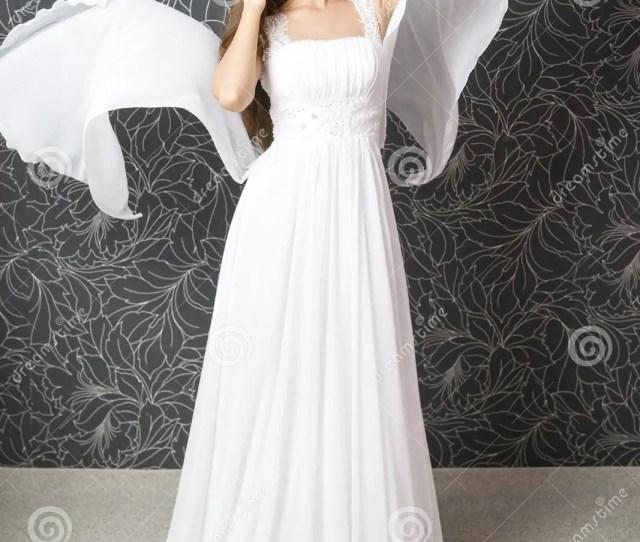 Beautiful Indian Woman In White Wedding Dress