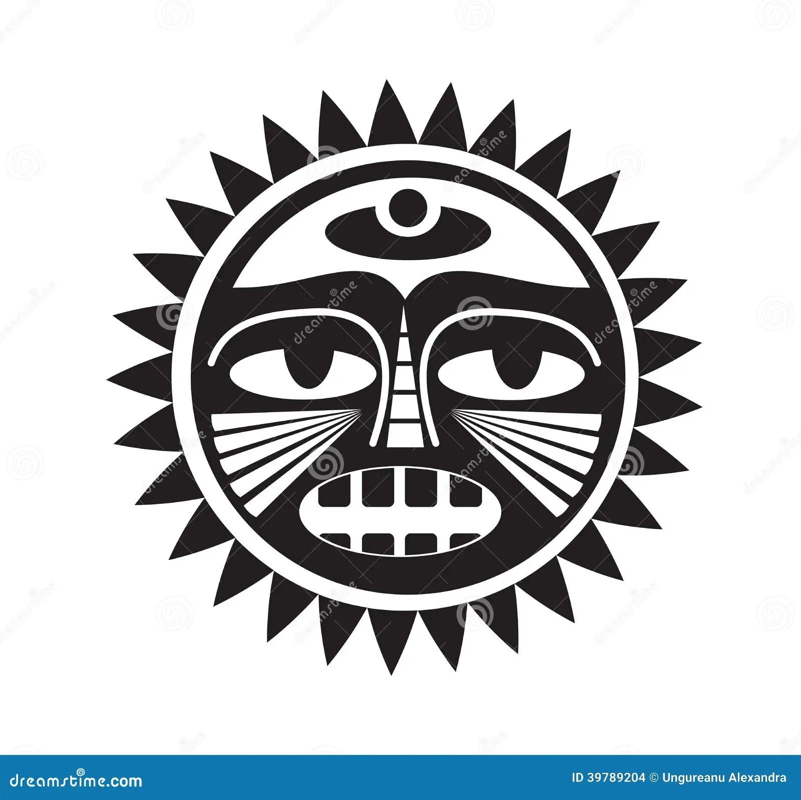 Beautiful Polynesian Style Tattoo Stock Vector