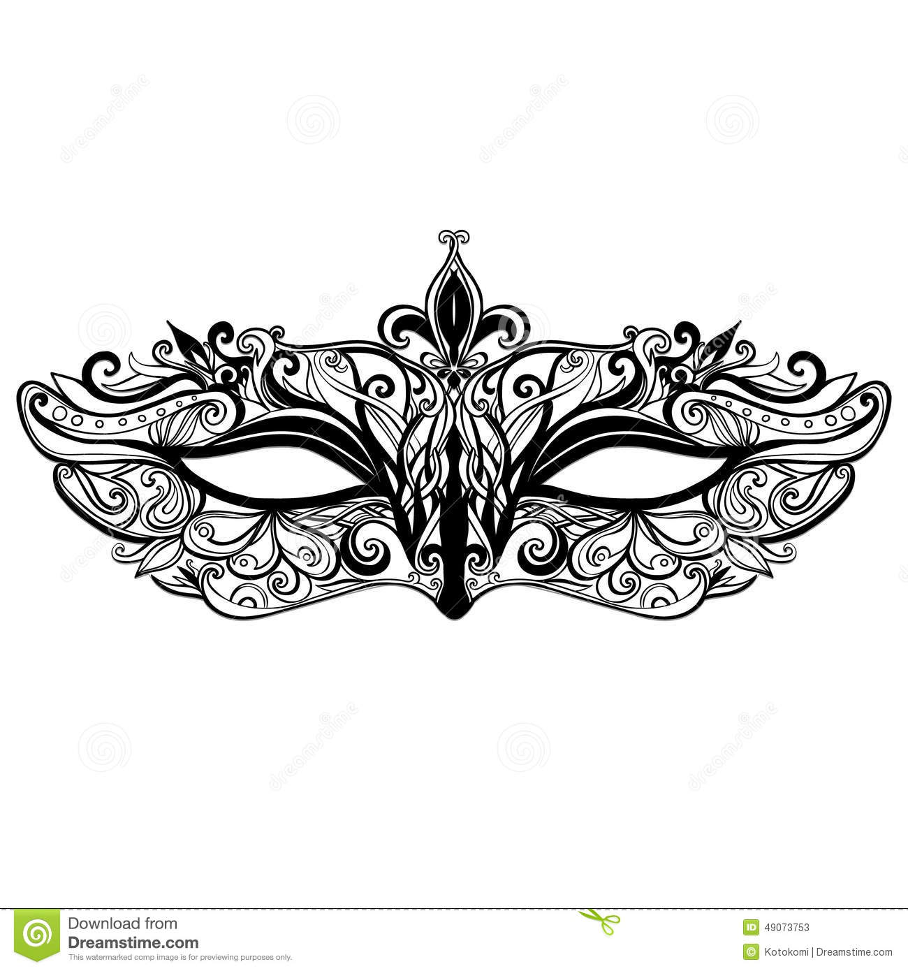 Beautiful Vector Mask Illustration Isolated On Stock