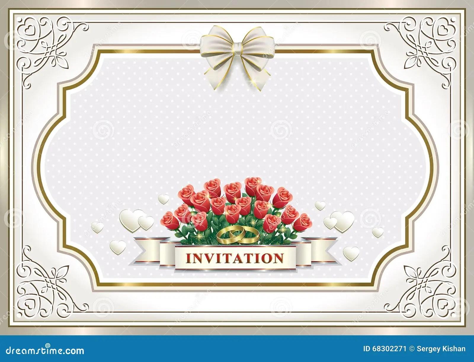 beautiful wedding invitation card stock vector illustration of marriage card 68302271
