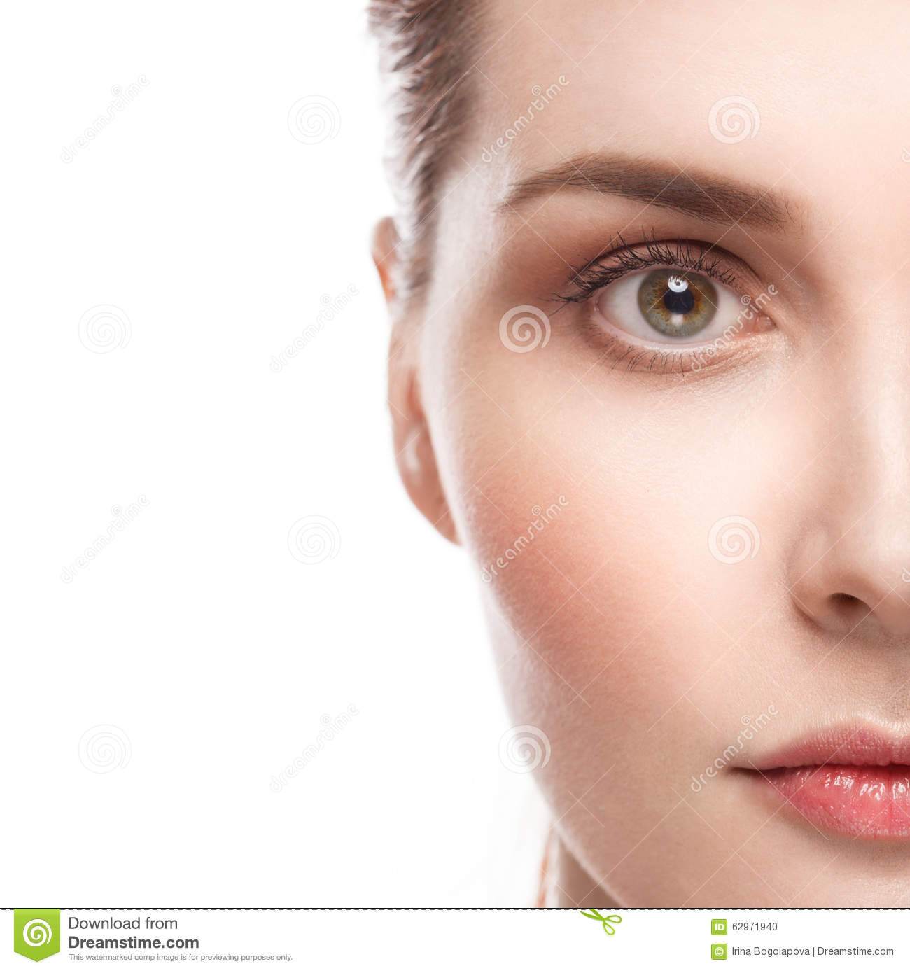 Beautiful Woman Portrait With Healthy Skin And Perfect