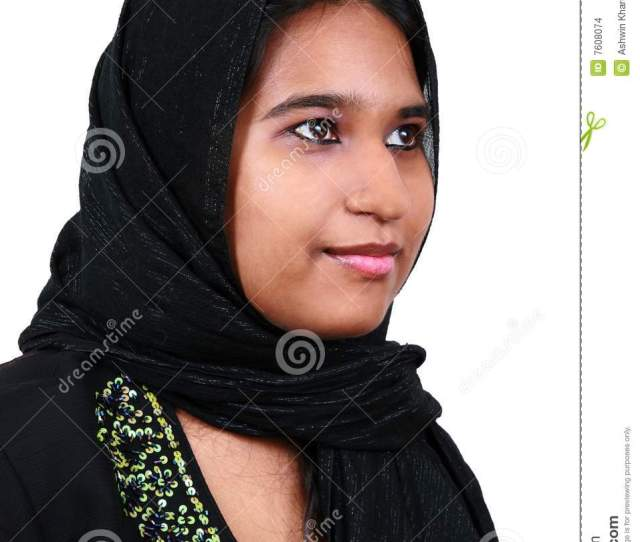 Beautiful Young Pakistani Girl Greeting In A Traditional Way