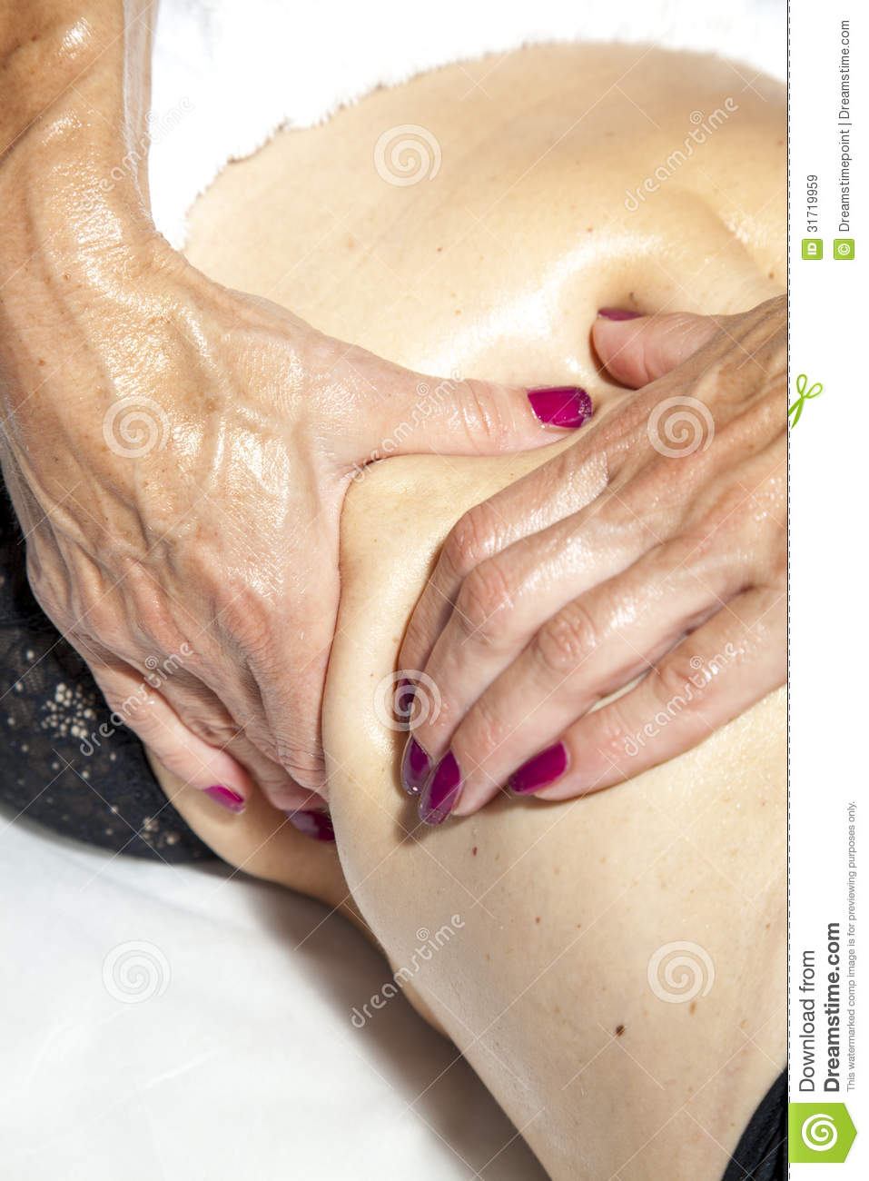 Beauty And Anti Cellulite Massage Royalty Free Stock