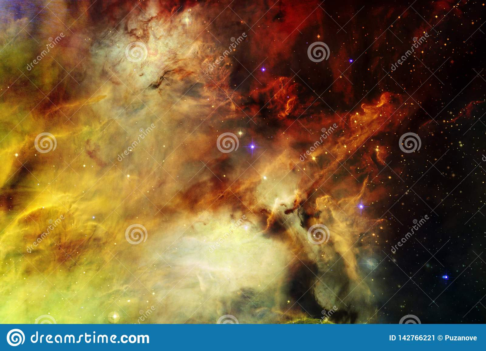 Beauty Of Outer Space Science Fiction Wallpaper Stock