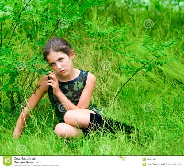 Beauty Sad Teen Girl Royalty Free Stock Photography ...