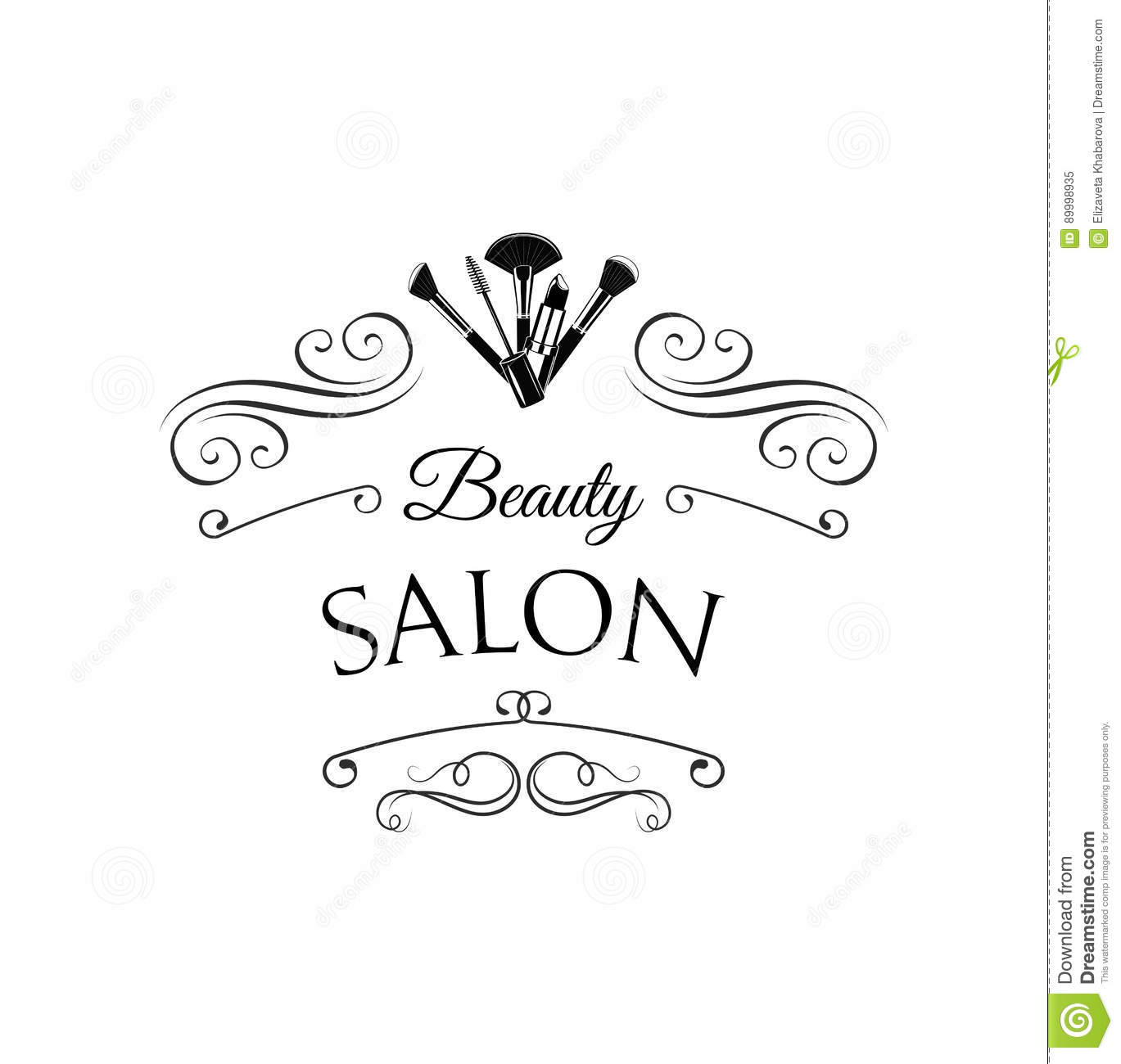 Vector Beauty Logo Or Label Design Hand Drawn