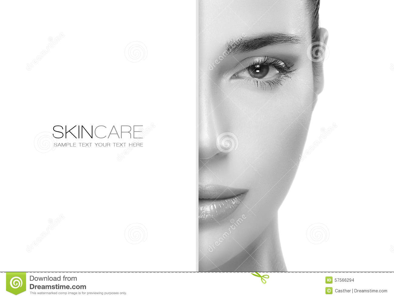 Beauty And Skincare Concept Template Design Stock Photo