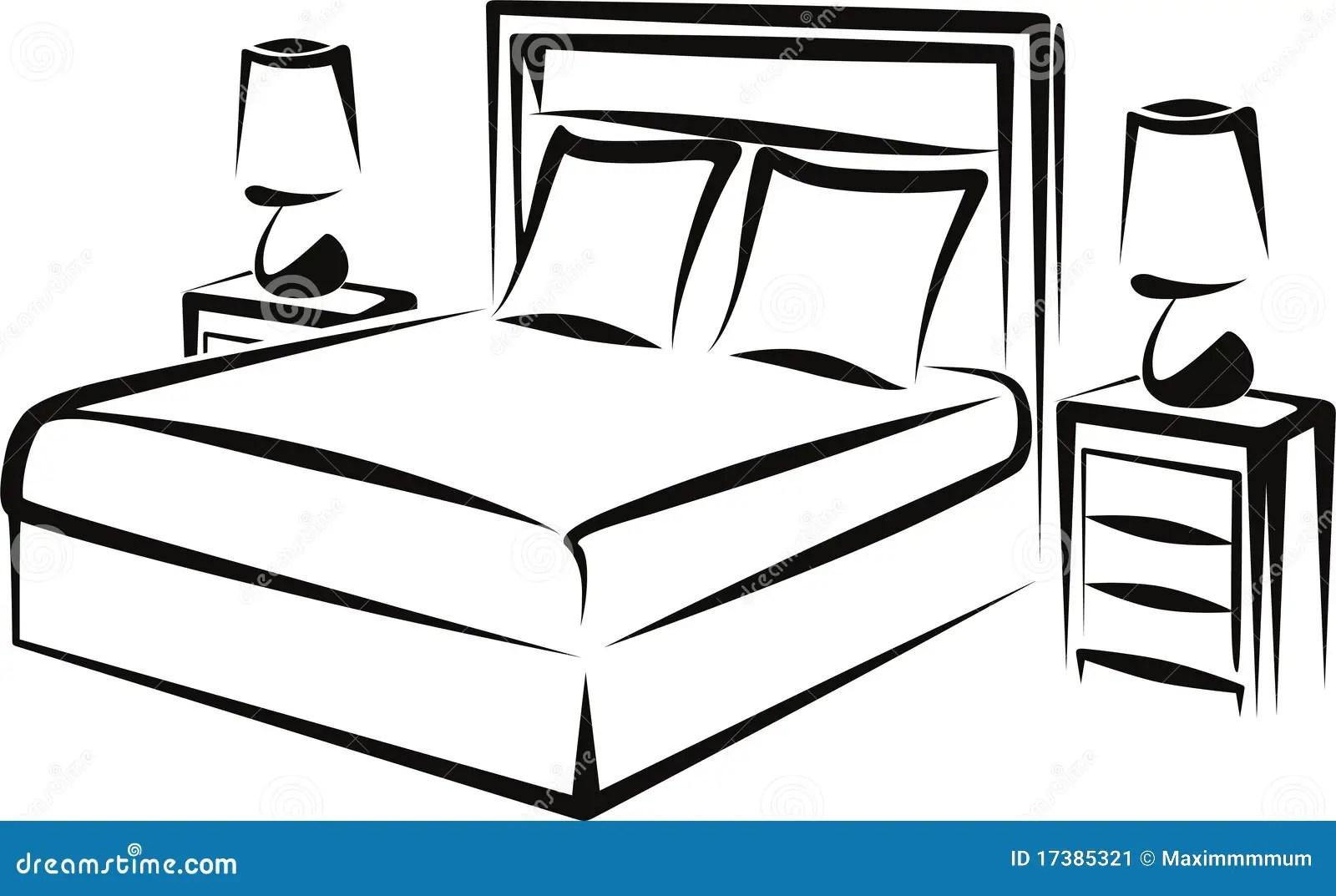 Bedroom Stock Vector Illustration Of Interior Headboard
