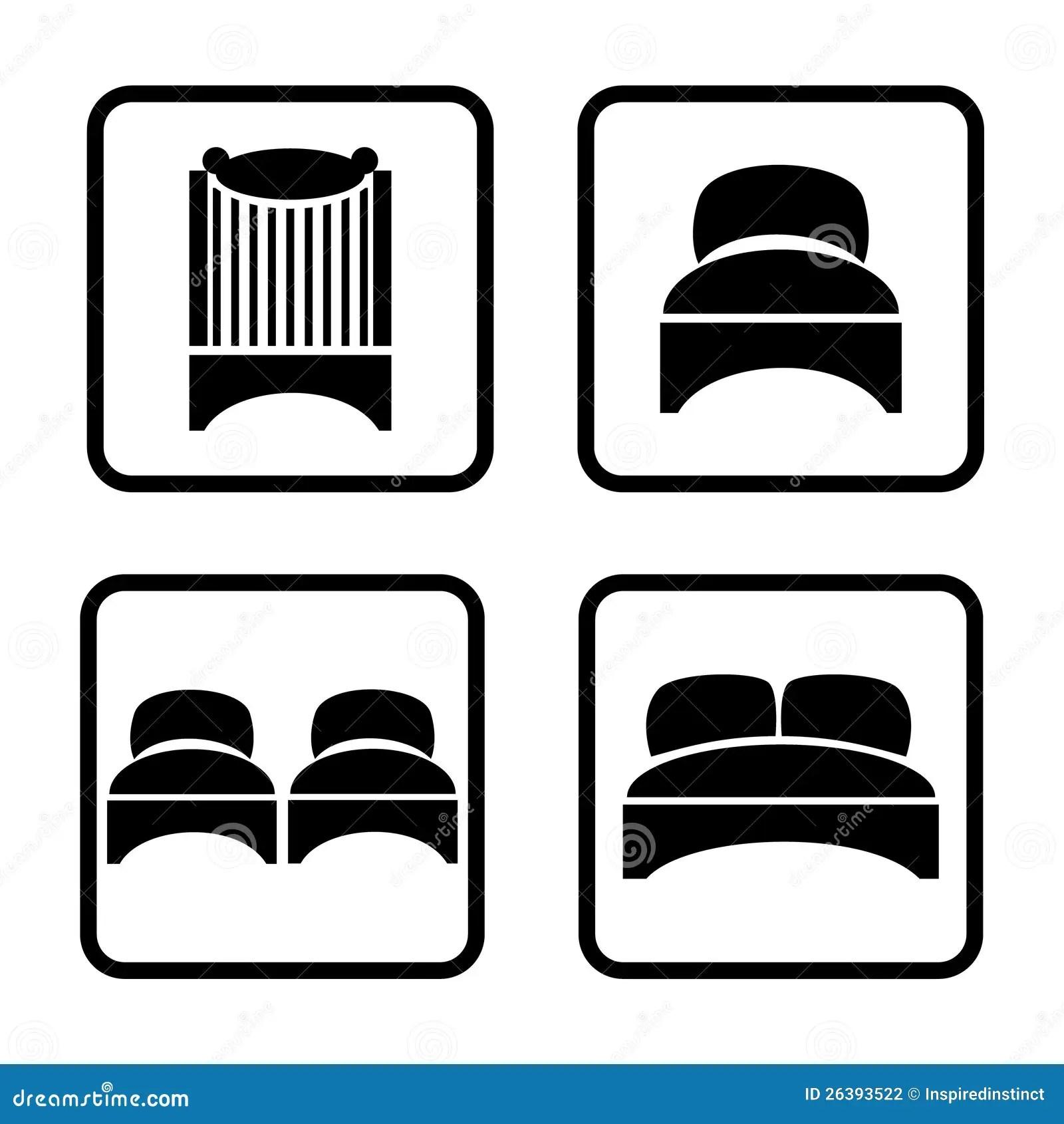 Beds Icon Set Stock Photography Image 26393522
