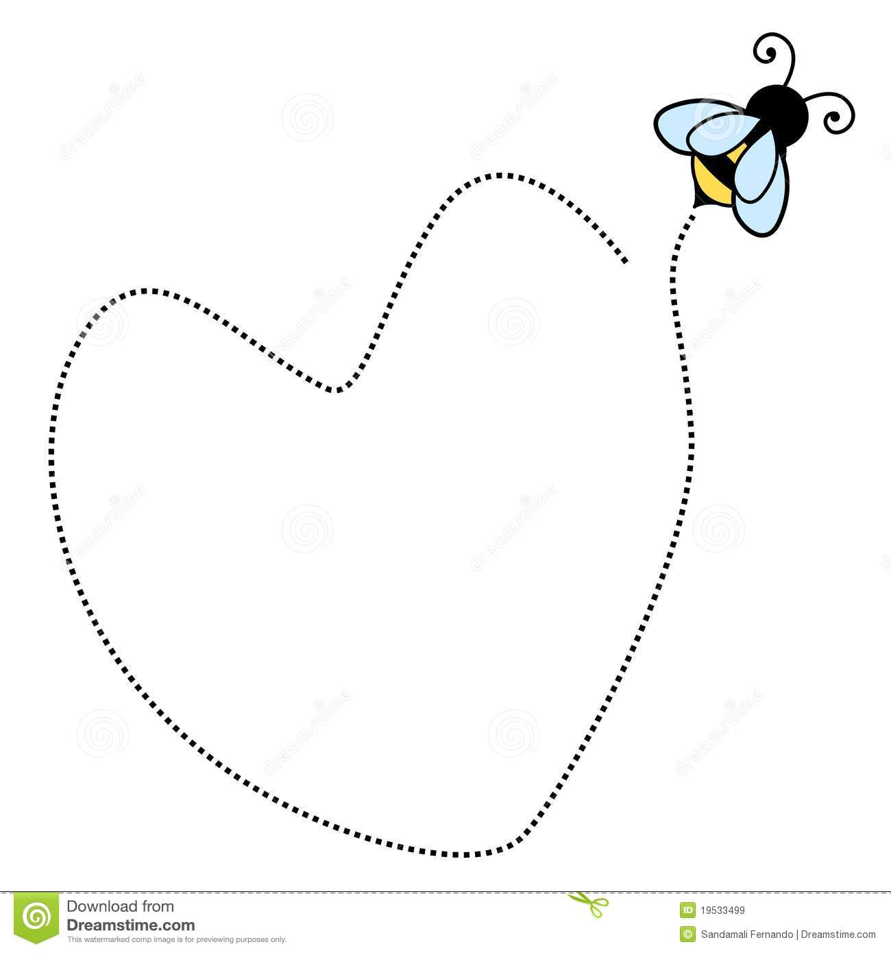 Bee Border Frame Royalty Free Stock Images