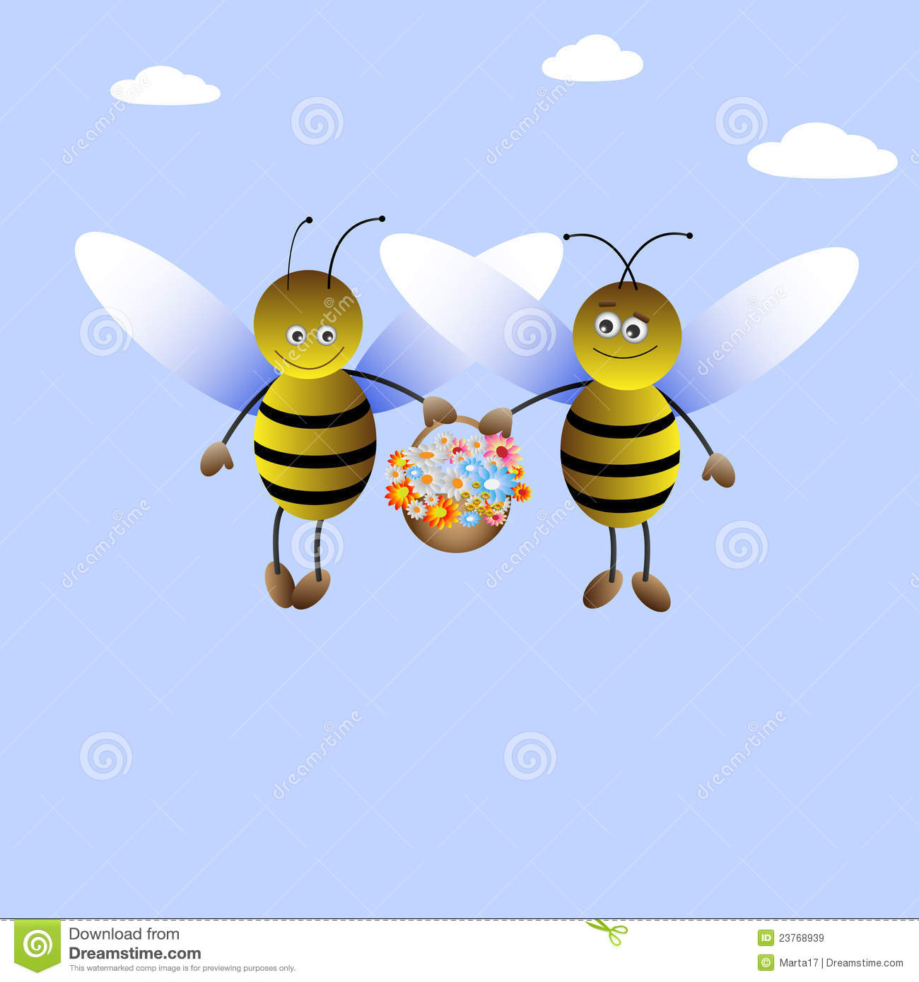 Bee Boy And Bee Girl Royalty Free Stock Images Image
