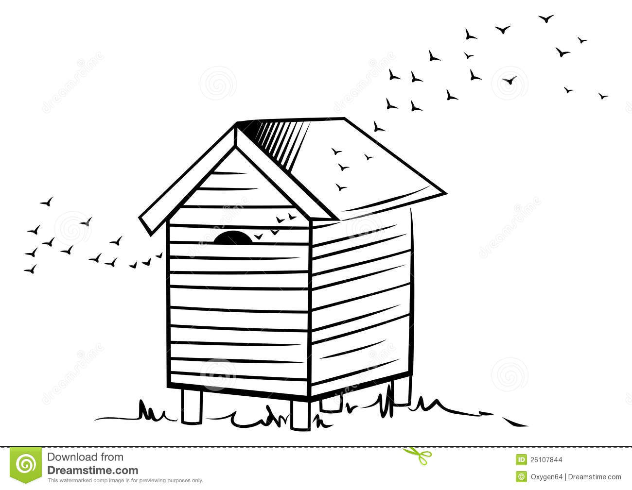 Bee Hive Stock Vector Image Of Illustration Nature