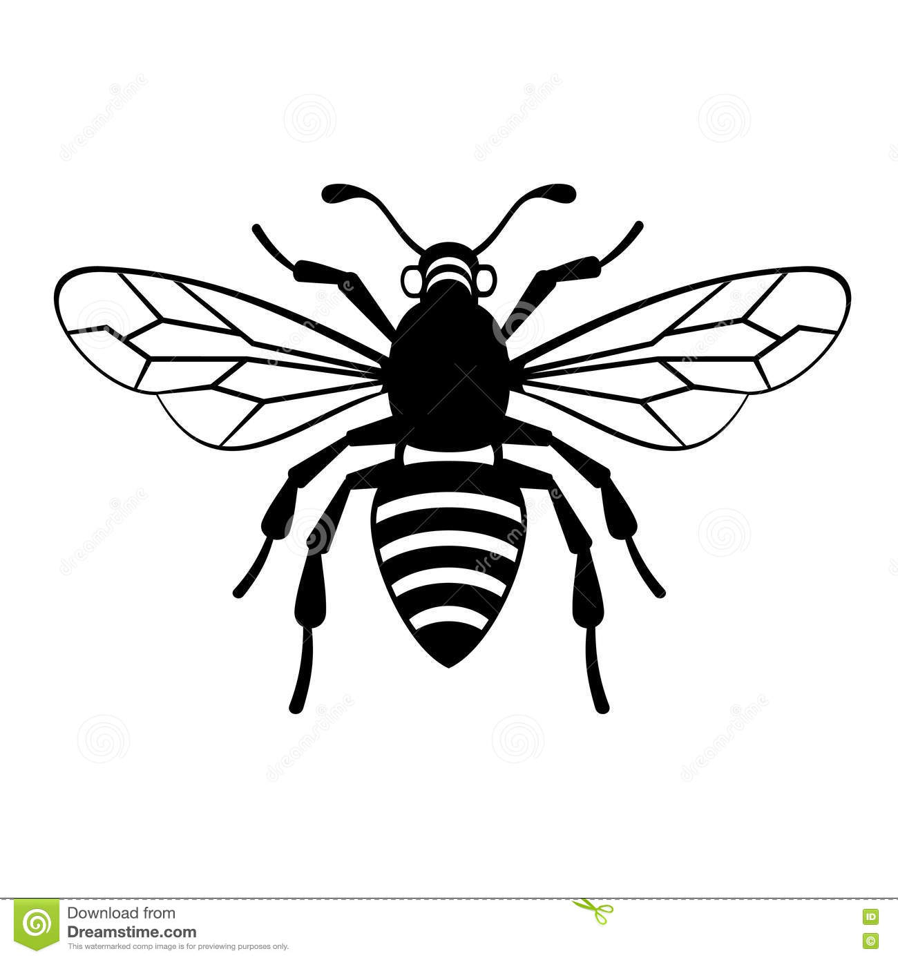 Bee Icon Vector Stock Vector Illustration Of Bumblebee