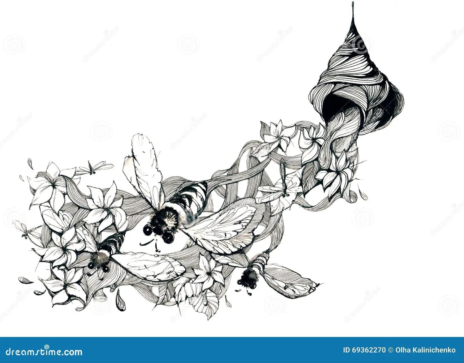 Beehive Stock Illustration