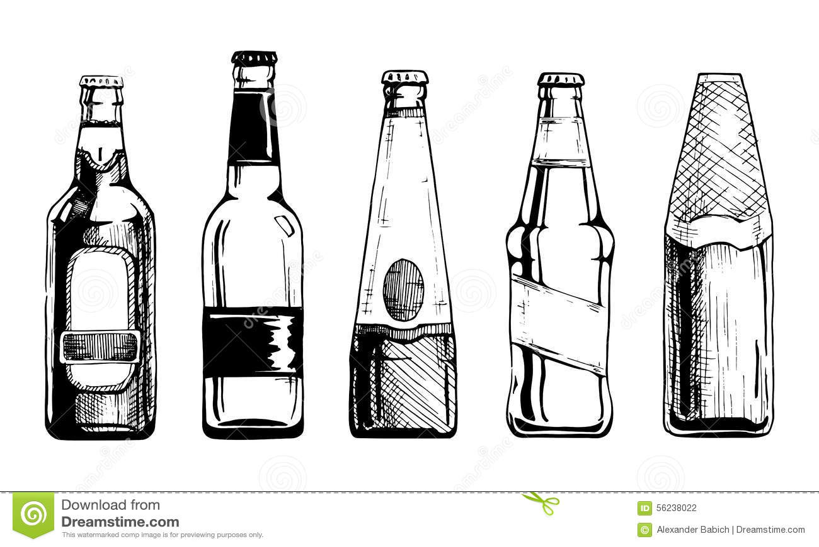 Beer Bottle Stock Illustration