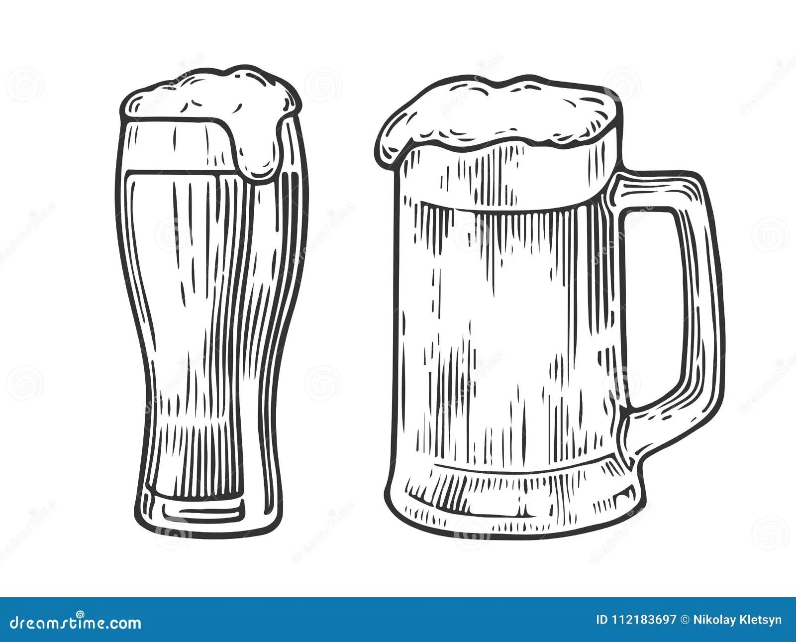 Beer Glass Mag Stock Illustration Illustration Of Glass