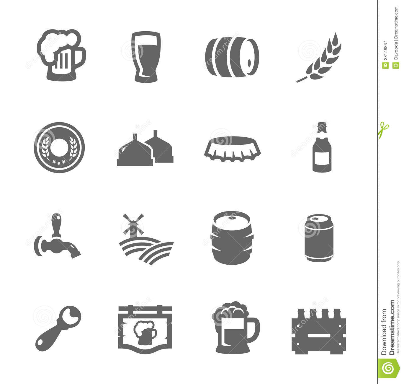 Beer Icons Stock Vector Illustration Of Clip Barrel