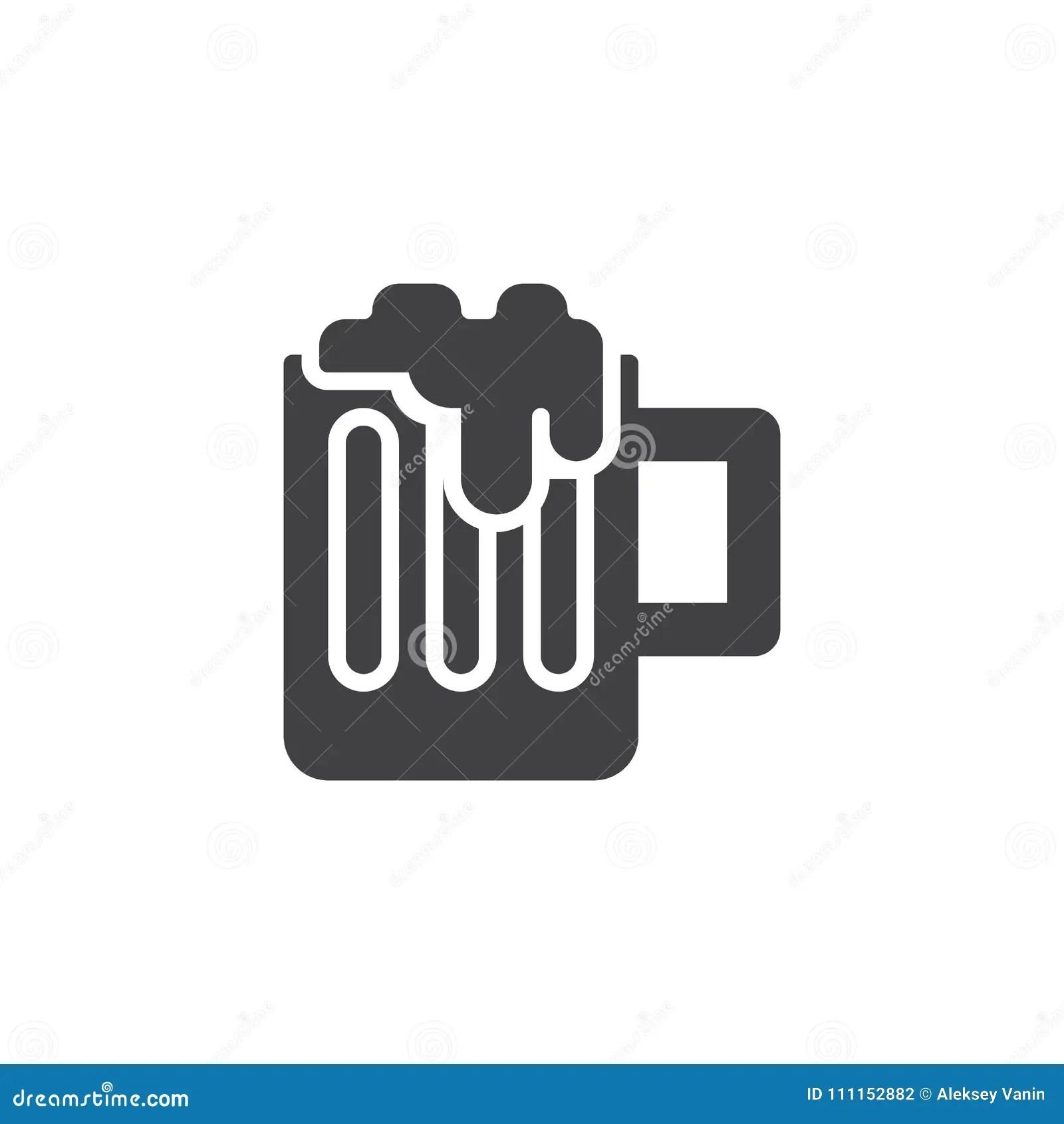 Beer Mug Vector Icon Stock Vector Illustration Of Single