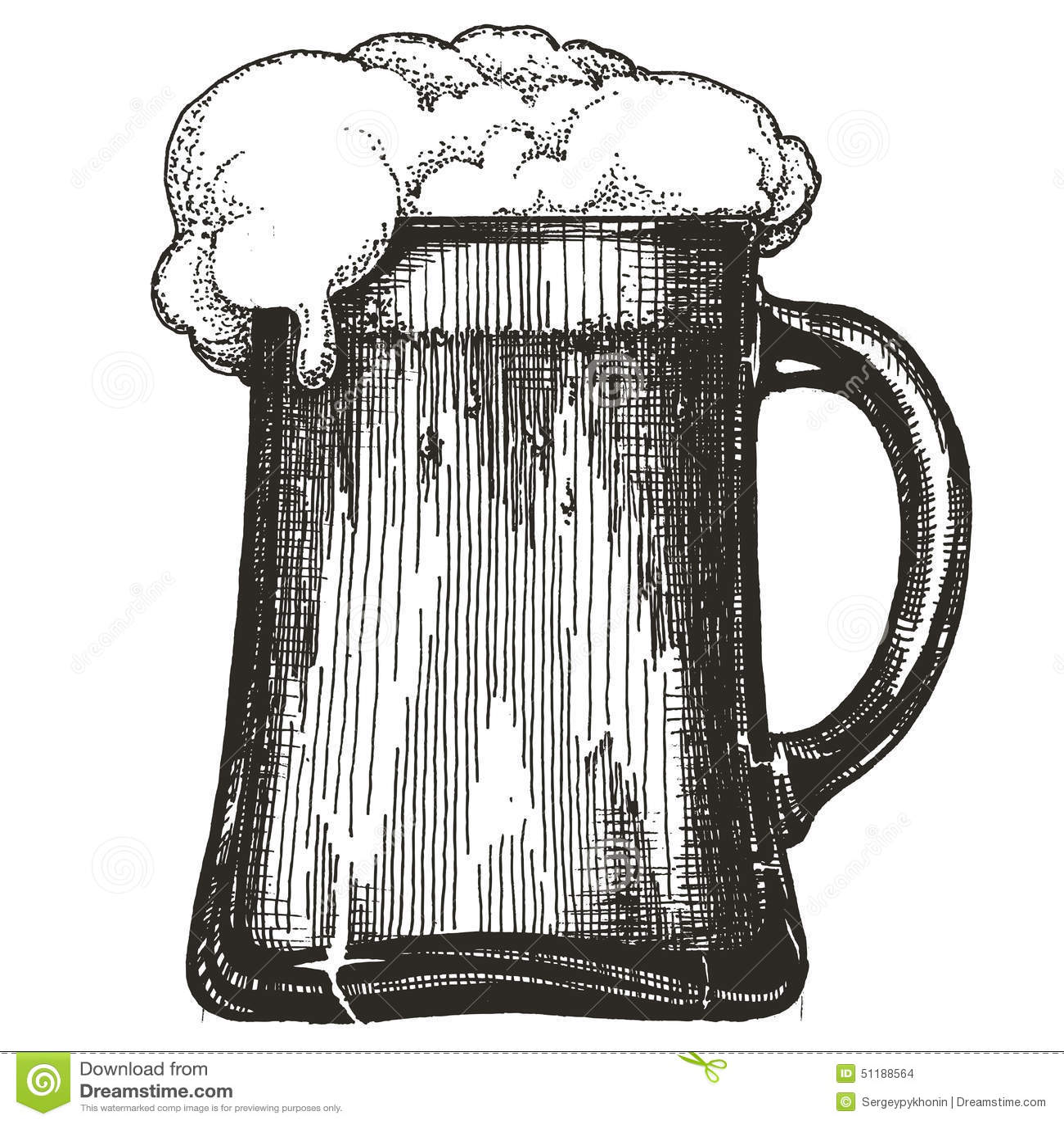 Beer Mug Vector Logo Design Template Draught Beer Stock