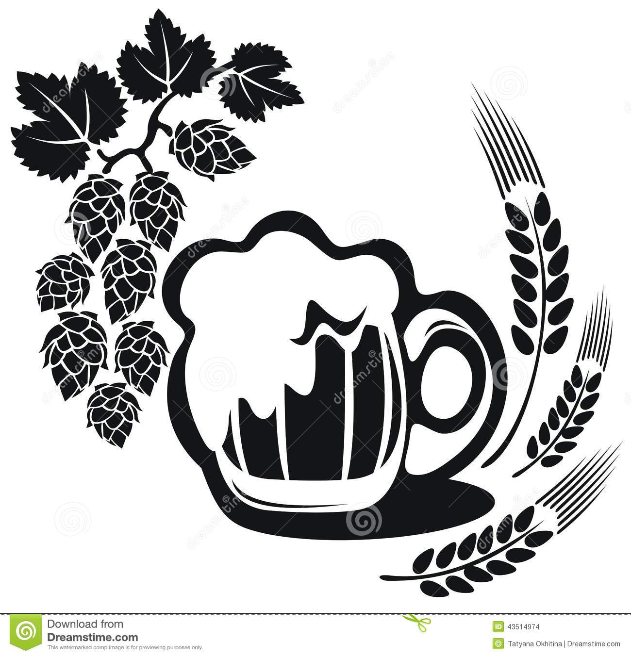Beer Mug With Wheat Ear Stock Illustration