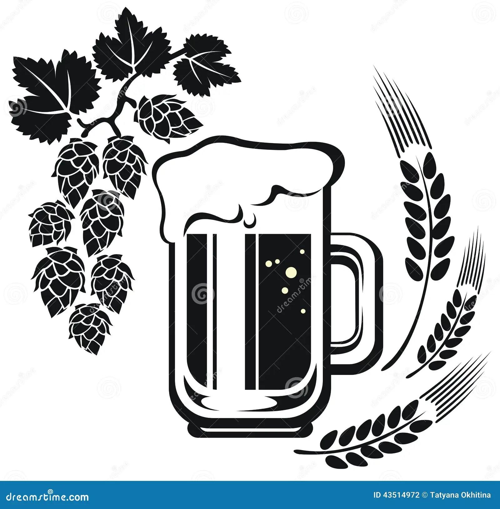 Beer Mug And Wheat Ear Stock Illustration