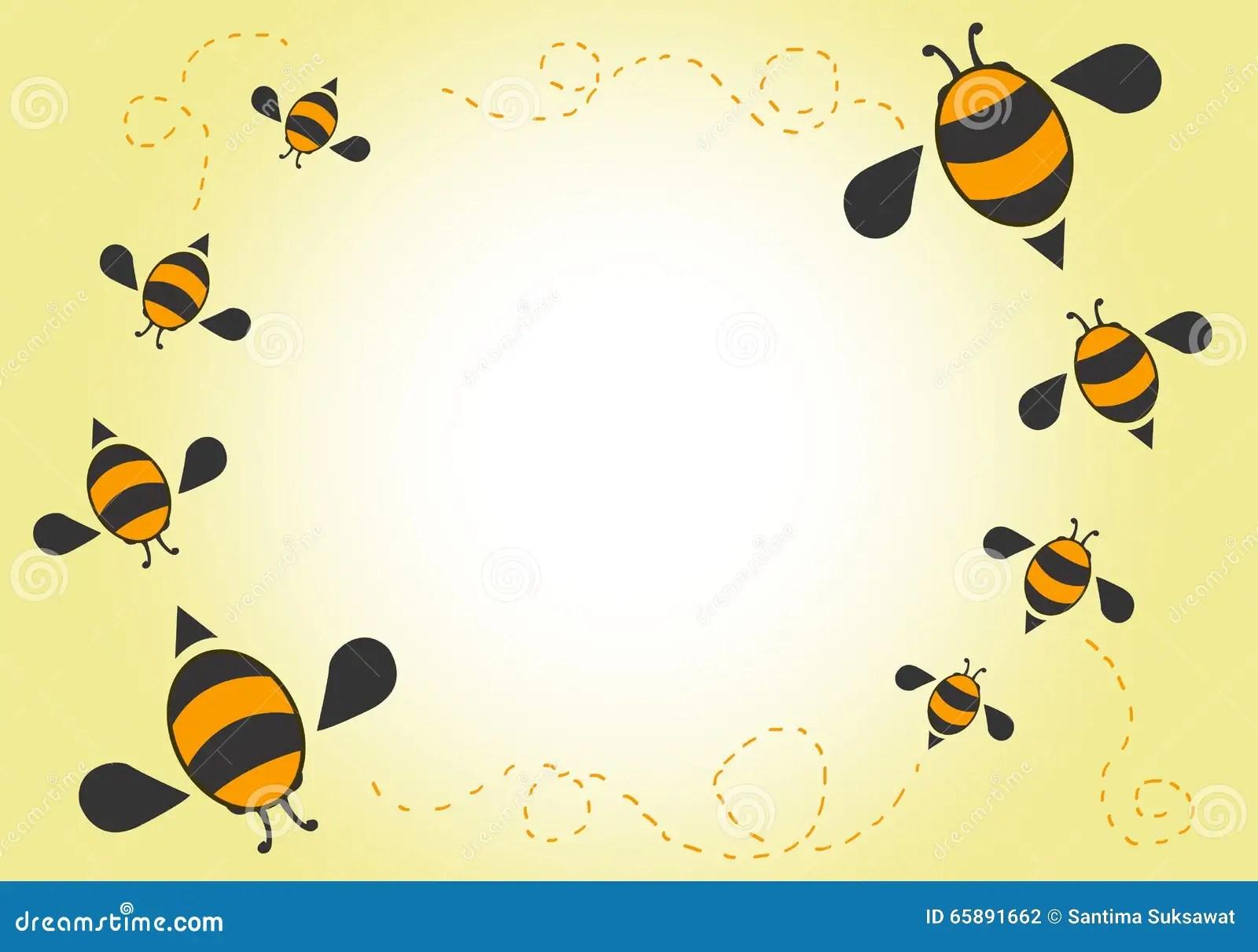 Bees Cartoon Background Stock Vector Image Of Ladybug