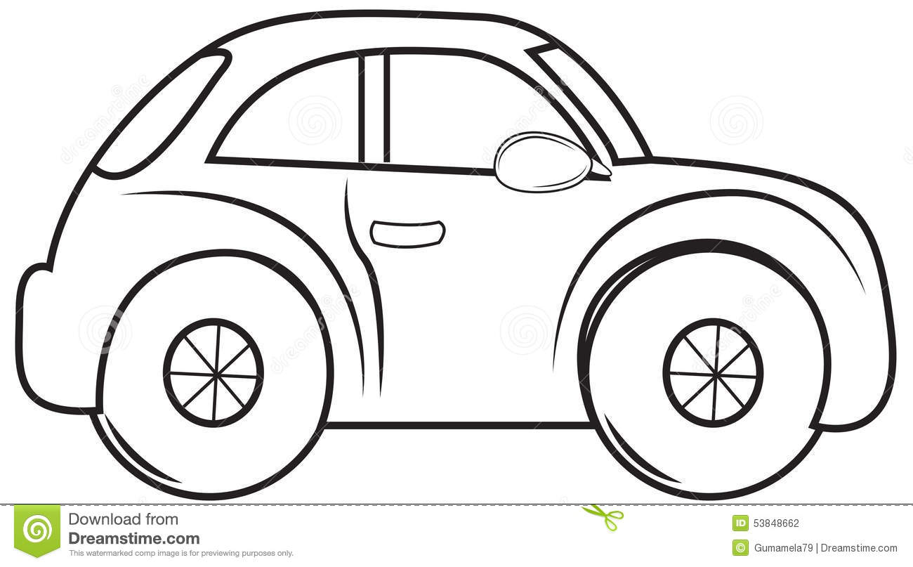 Beetle Car Coloring Page Stock Illustration Illustration