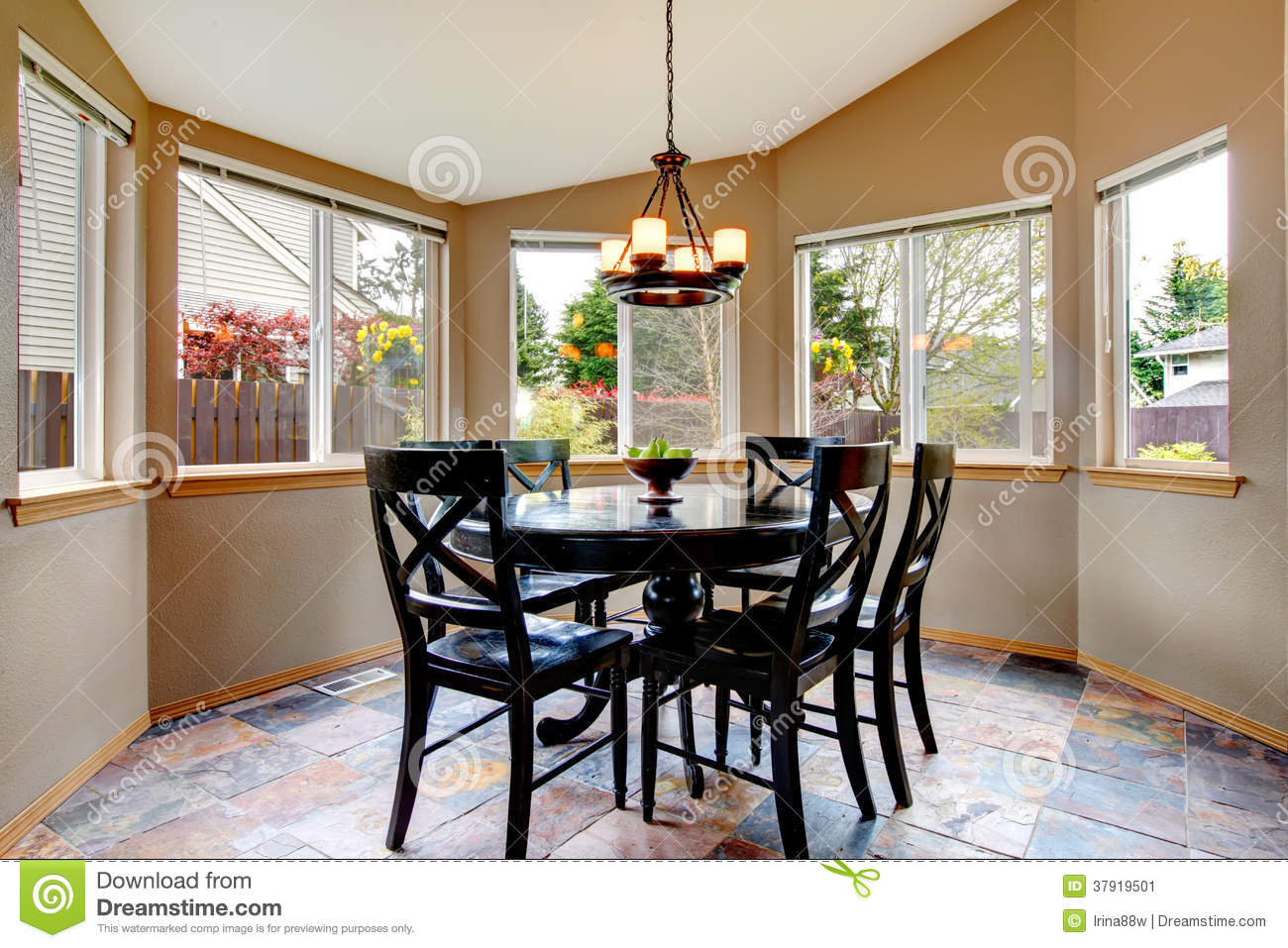 Beighe Round Corner Dining Room Stock Image Image Of Idea Apartment 37919501