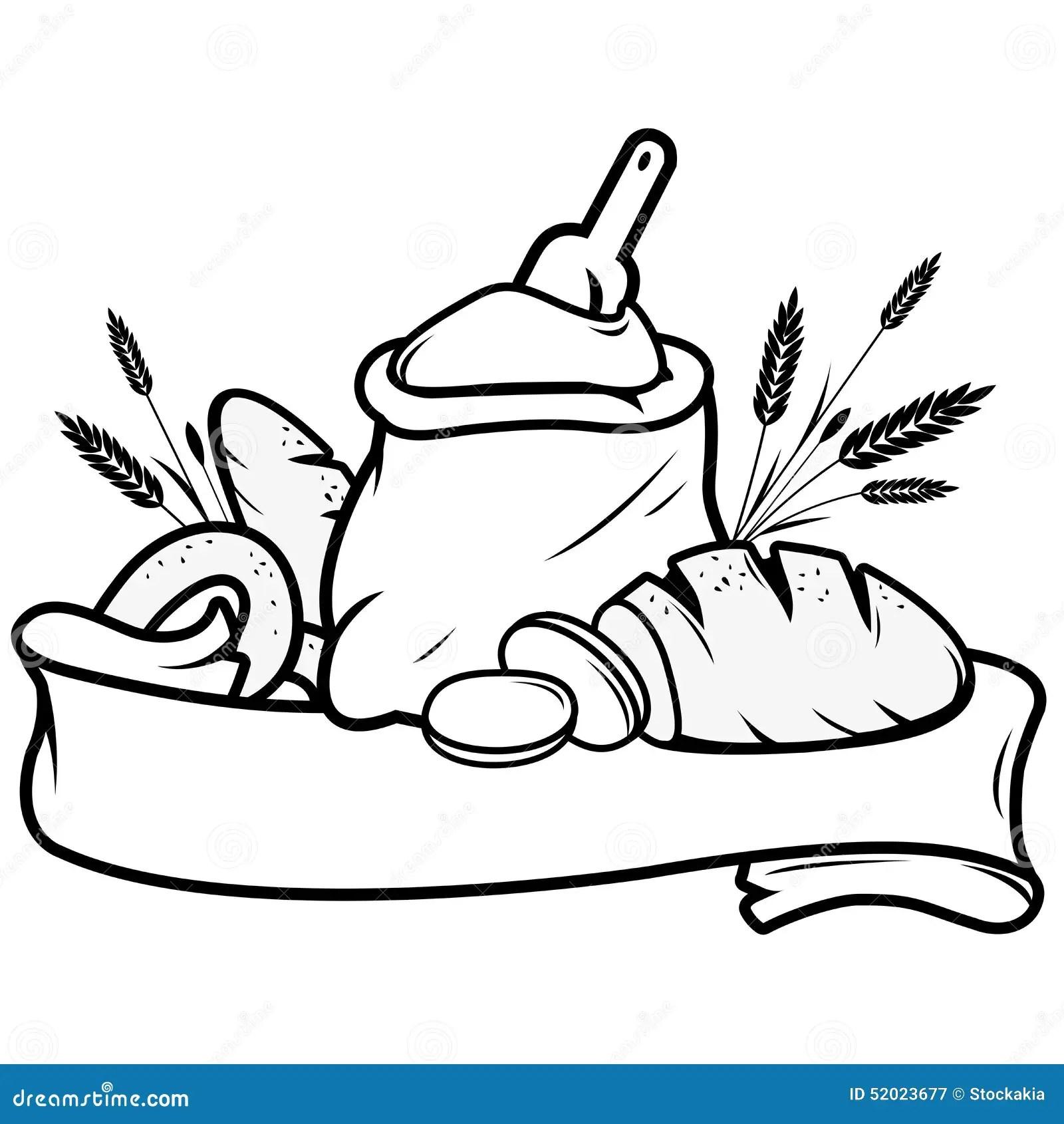 Bemehlen Sie Sack Brot Gersten Und