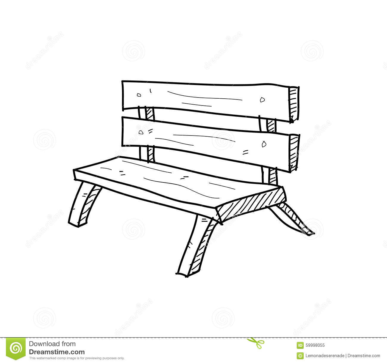 Bench Doodle Stock Vector Illustration Of Graphic