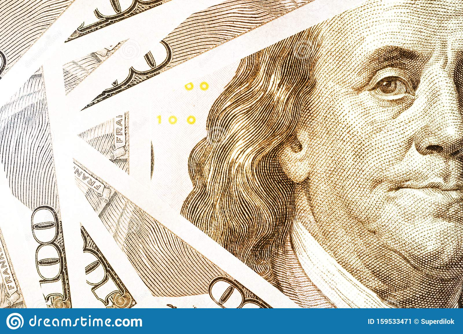 Benjamin Franklin Face On Us Dollar Banknote Us Dollar Is