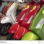 Vespa Piaggio Scooters Stock Photo Image Of Motorcycle 121105866