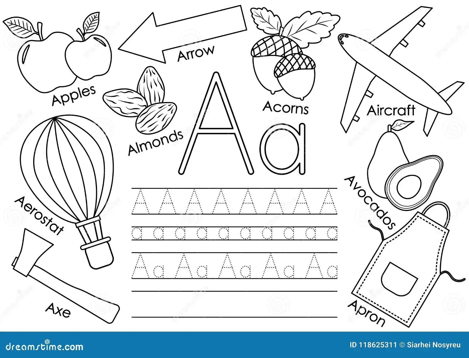 Beschriften Sie A Lernen Des Englischen Alphabetes Mit