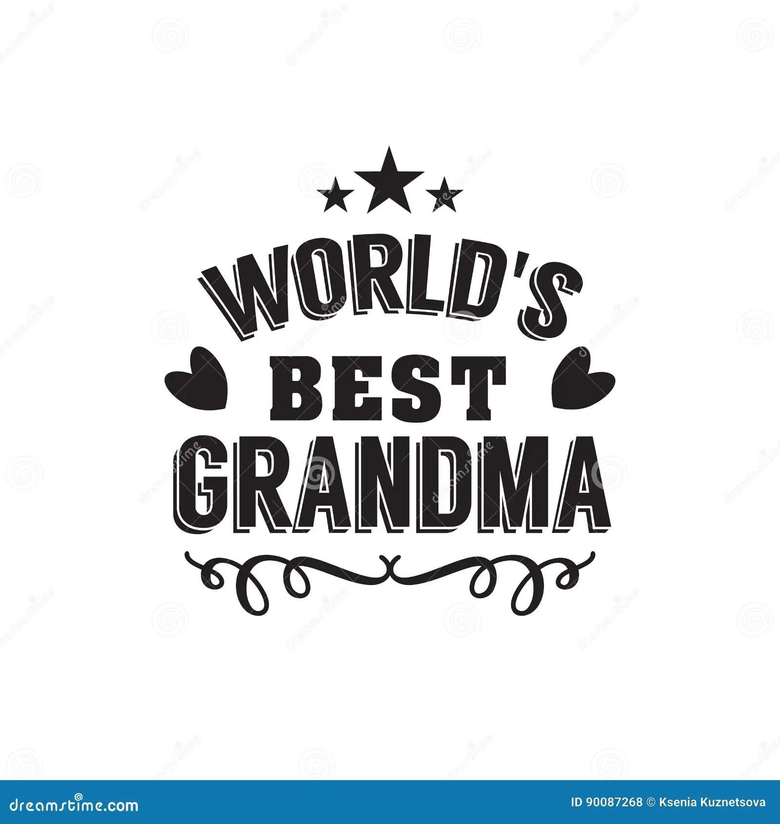 Best Grandma Handwritten In Black Stock Vector