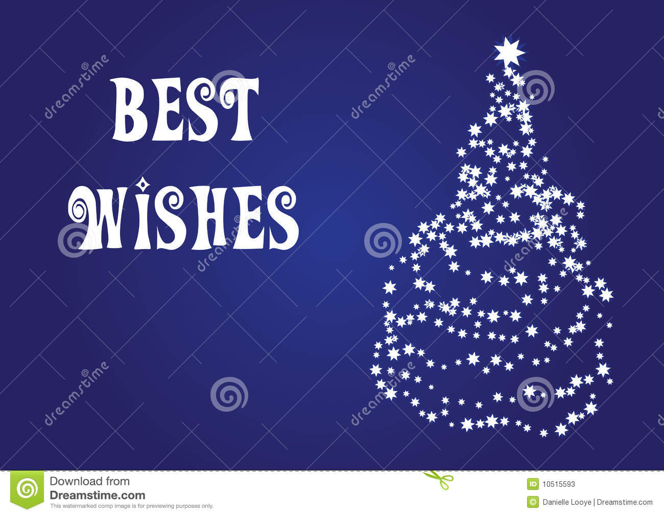 Best Wishes Christmas Vector Card Stock Photos Image