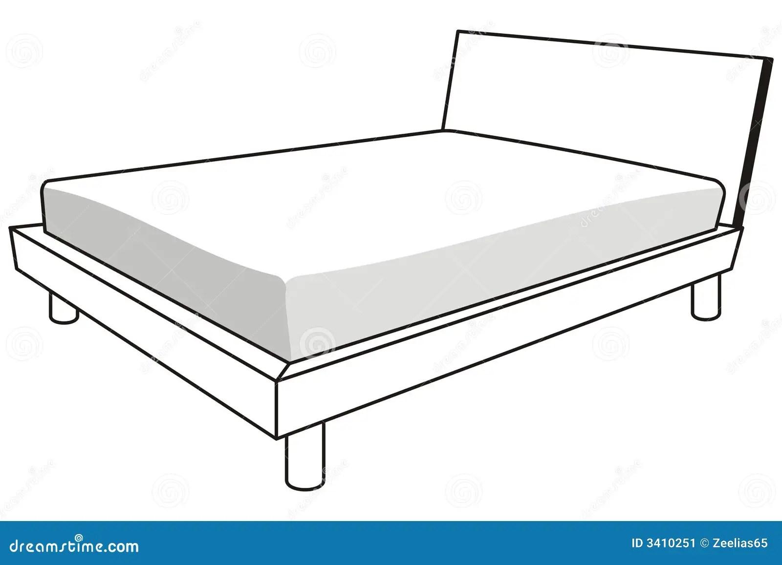 Bett Vektor Abbildung Illustration Von Vektor Schlaf