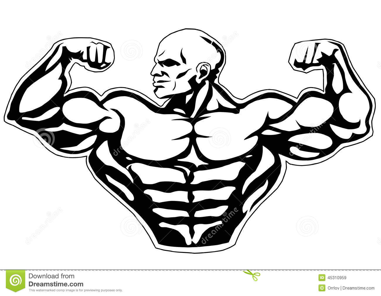 Big Biceps Stock Vector Illustration Of Heavy Fitness