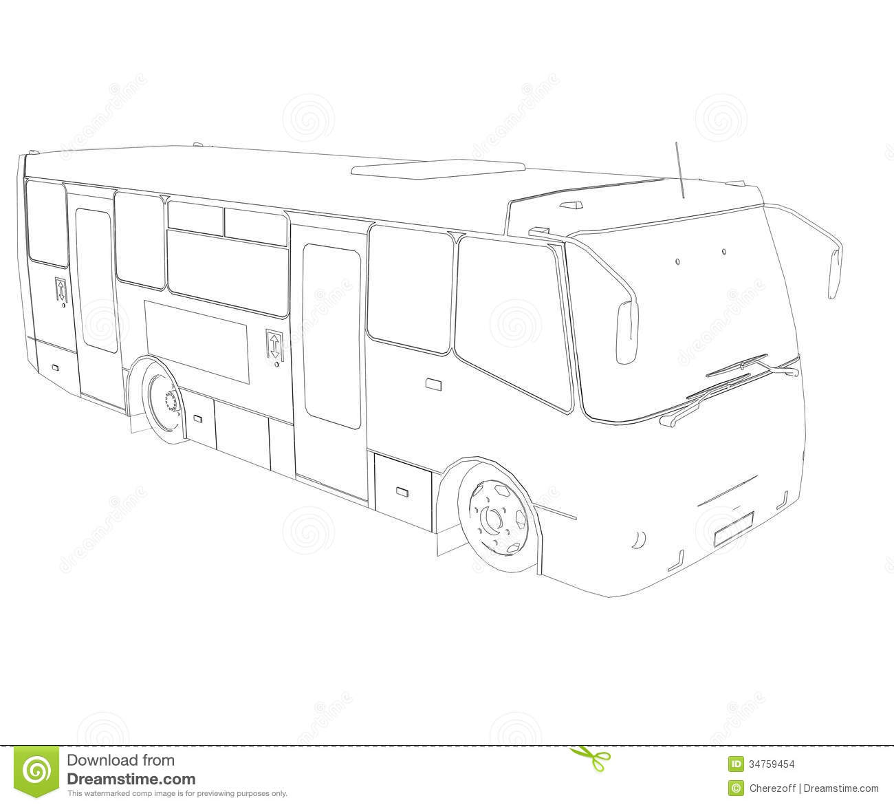 Big Bus Wire Frame Stock Images