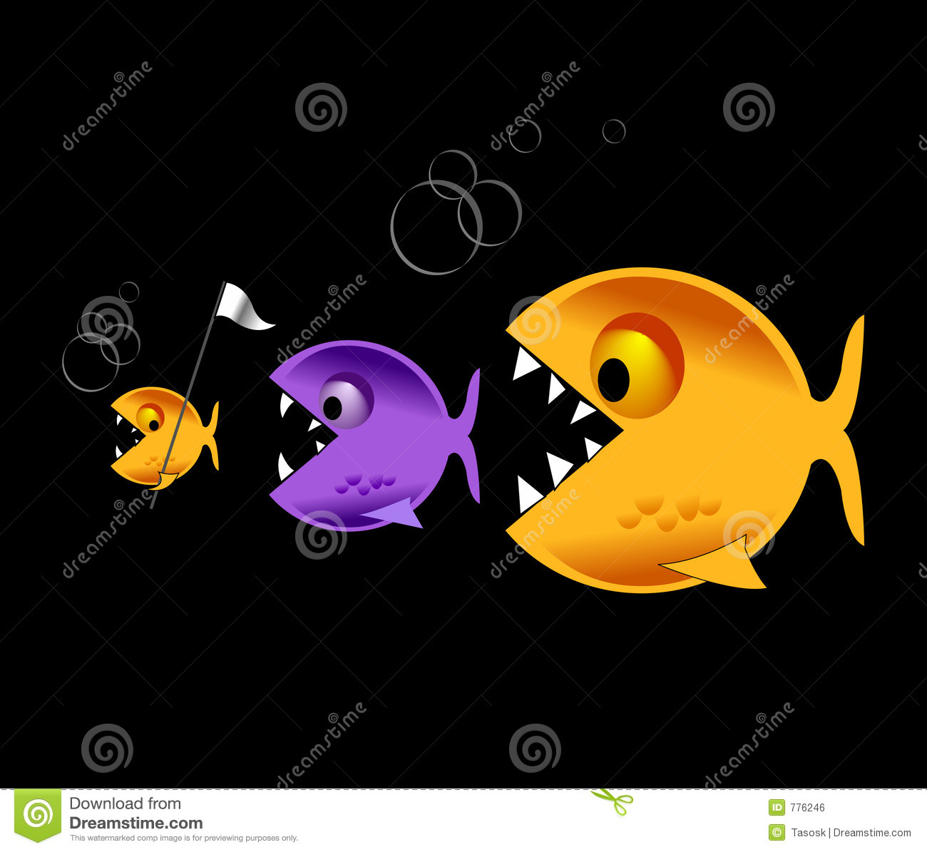 Big Fish Eat Little Fish Royalty Free Stock Image