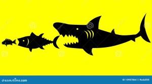 Big Fish Prey On Smaller Fish Stock Vector  Image: 14907864
