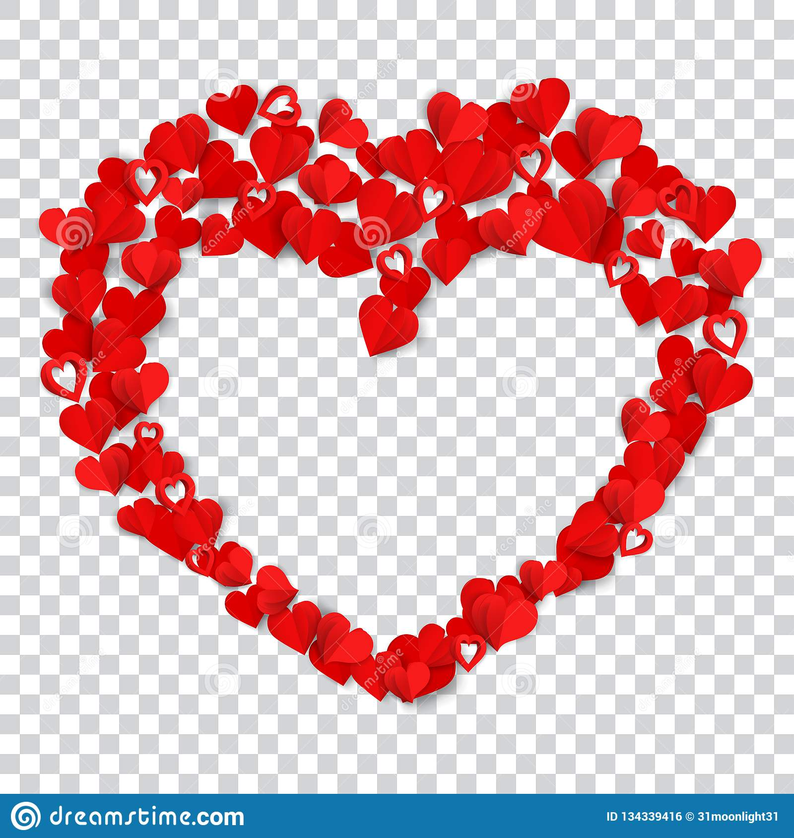 Big Heart Made Of Small Stock Vector Illustration Of