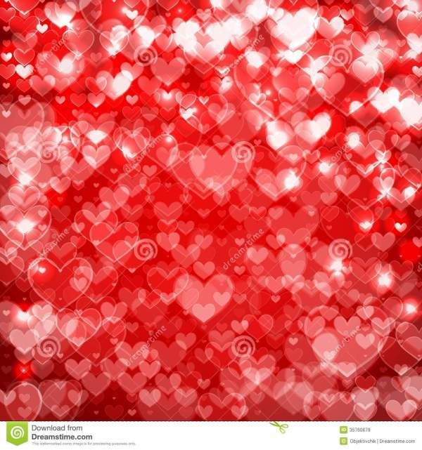 Big Hearts Red Abstract Background Sparkling Royalty Free