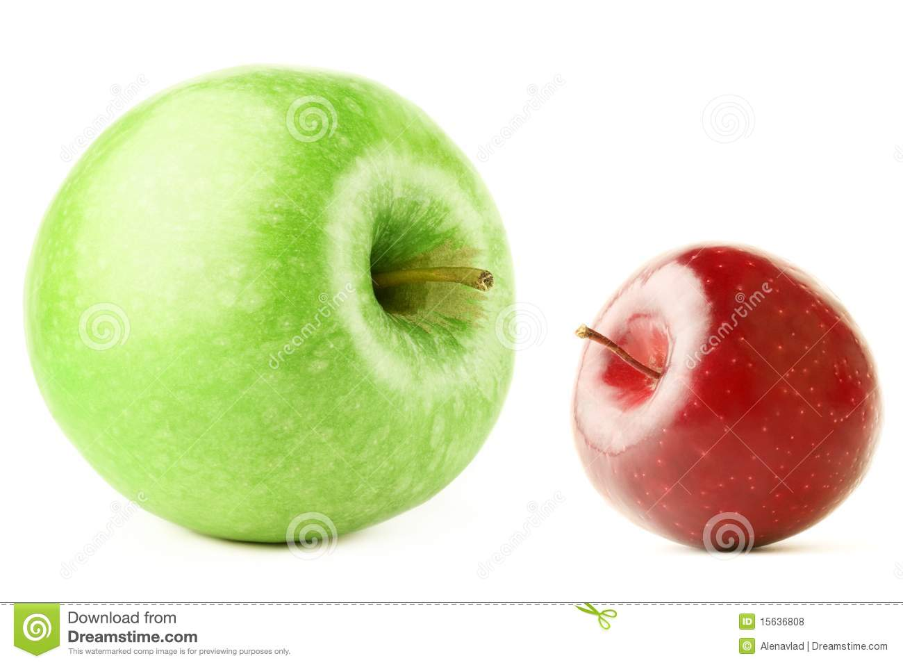 Big And Small Apple Stock Photo Image Of Background