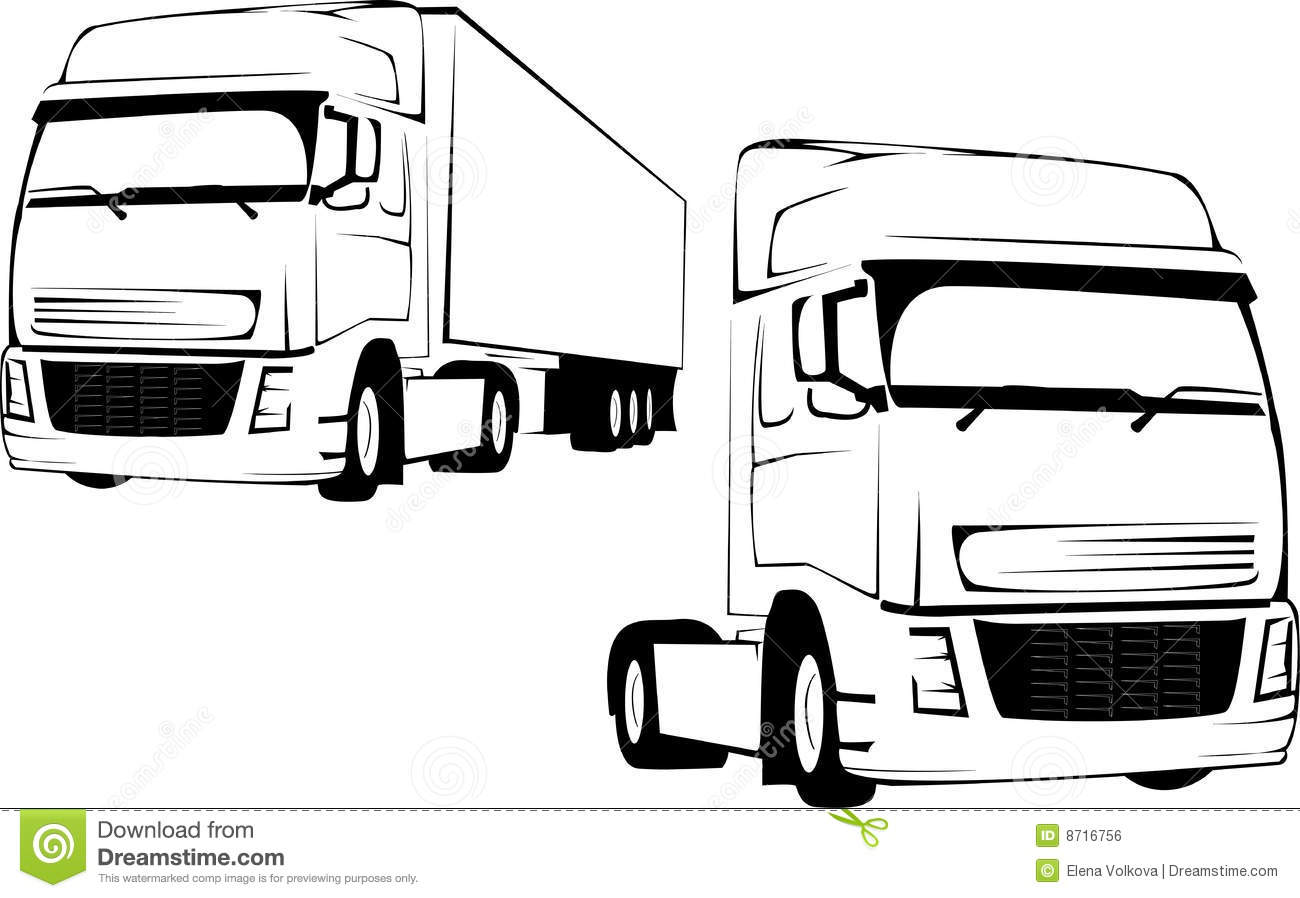 Big Truck On A White Background Stock Vector