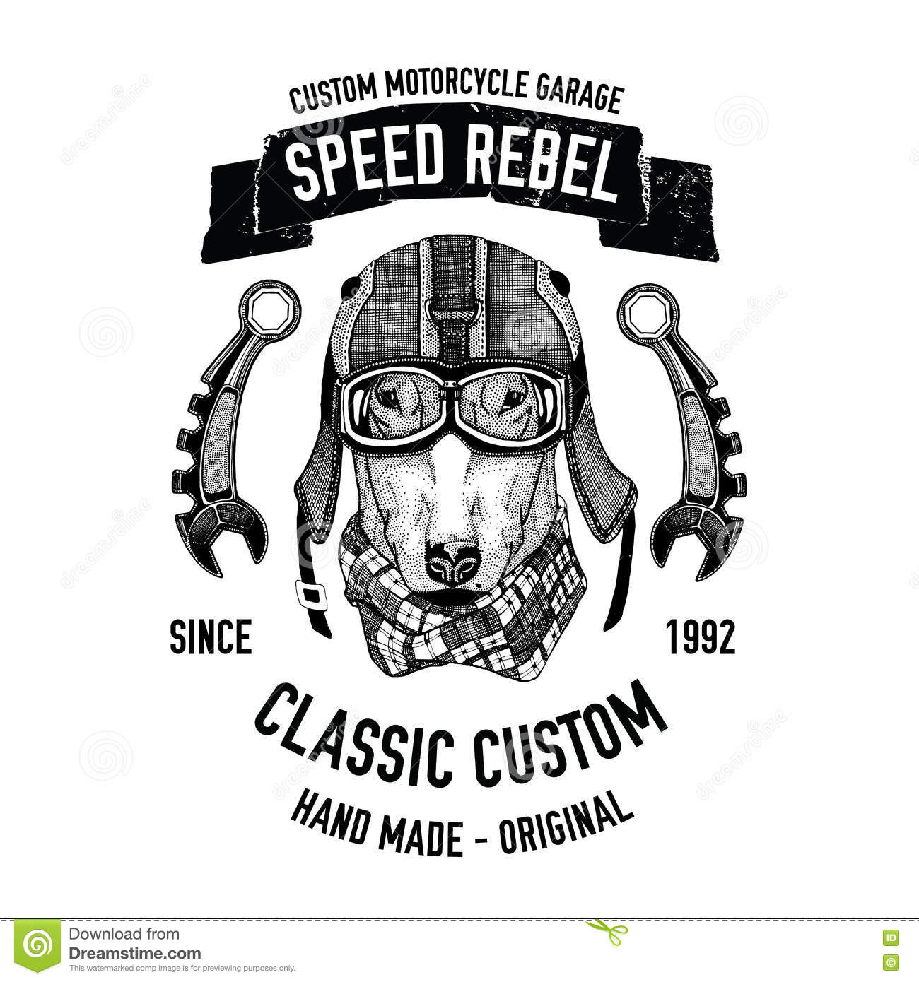 Biker Quote With Dog For Garage Service T Shirt Spare