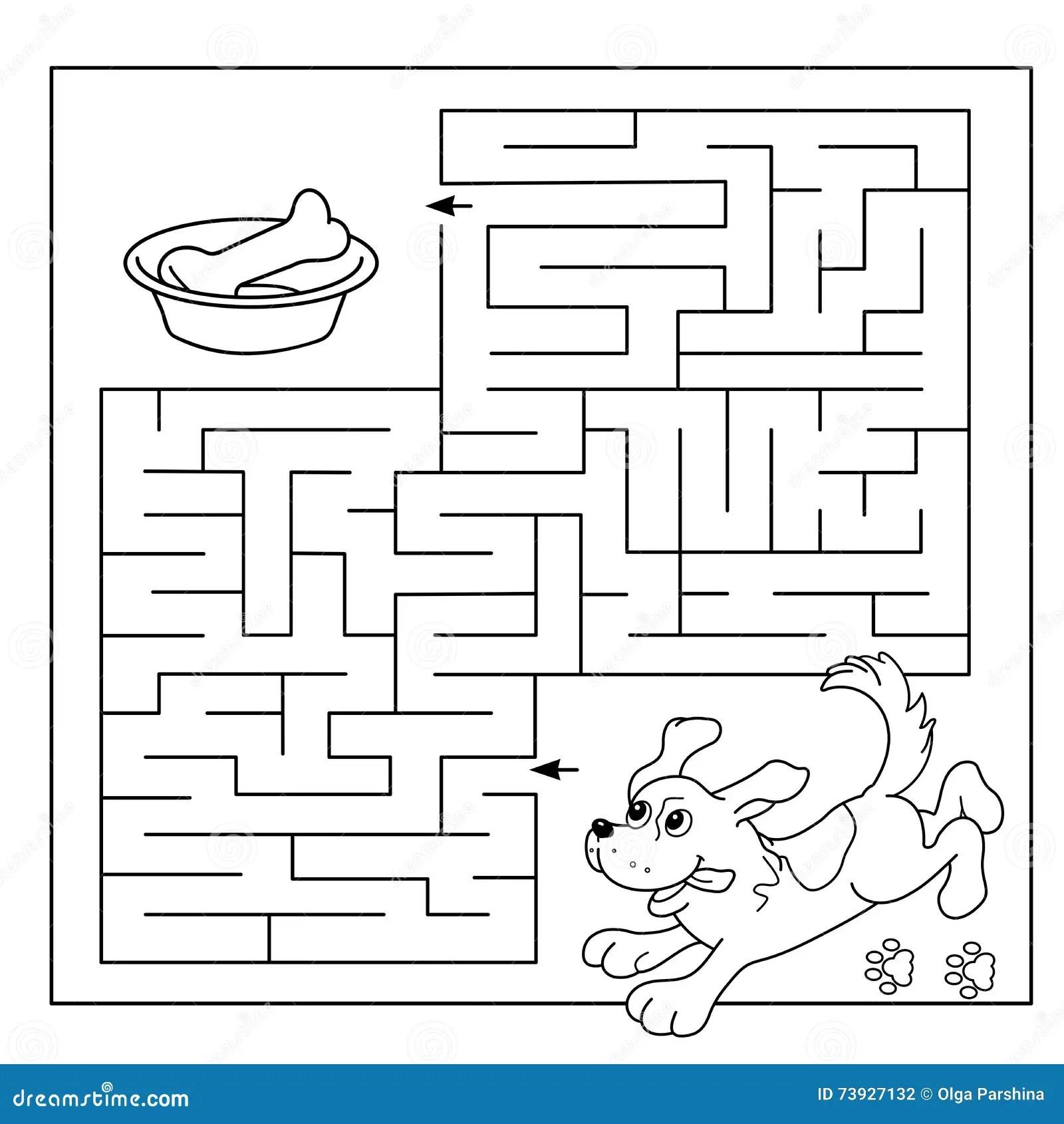 Bildungs Labyrinth Oder Labyrinth Spiel Fur Vorschulkinder