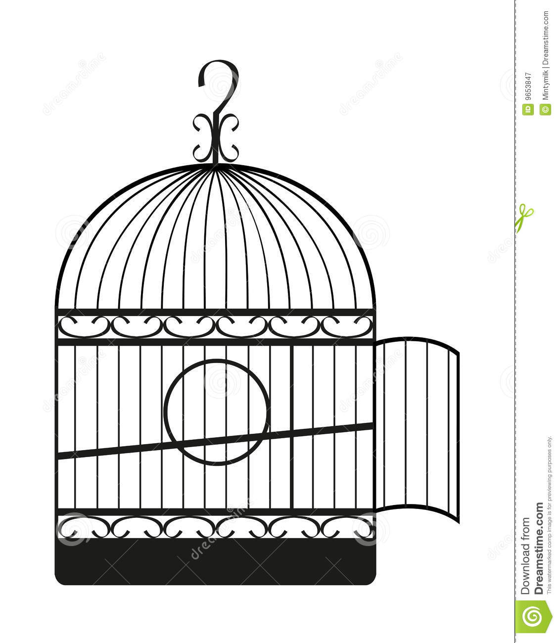 Bird Cage Stock Illustration Illustration Of Graphic