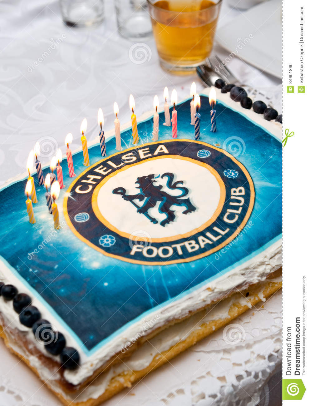 Birthday Cake For Chelsea Fan Editorial Image Image